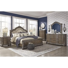 Signature Design by Ashley Charmond King Panel 5 Piece Bedroom Set