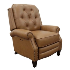 Barcalounger Ava Leather Power Recliner - Shoreham Ponytail