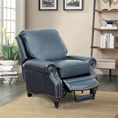 Barcalounger Avery Leather Recliner - Shoreham Blue