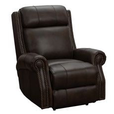 Barcalounger Blair Big & Tall Leather Recliner with Power Recline and Power Headrest - Ashford Walnut