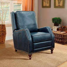 Barcalounger Huntington Leather Power Recliner - Shoreham Blue