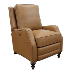 Barcalounger Huntington Leather Power Recliner - Shoreham Ponytail