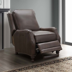 Barcalounger Huntington Leather Power Recliner - Ashford Walnut