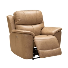 Barcalounger Kaden Recliner with Power Recline, Power Headrest & Power Lumbar - Elliott Taupe