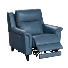 Barcalounger Kester Recliner with Power Recline and Power Headrest - Masen Bluegray