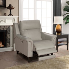 Barcalounger Kester Recliner with Power Recline and Power Headrest - Laurel Cream