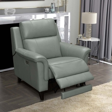 Barcalounger Kester Recliner with Power Recline and Power Headrest - Lorenzo Mint