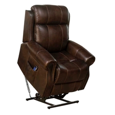 Barcalounger Langston Lift Chair with Power Recline, Power Headrest & Power Lumbar - Tonya Brown