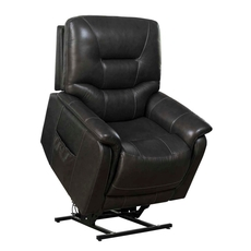 Barcalounger Lorence Lift Chair with Power Recline, Power Headrest & Power Lumbar - Venzia Grey