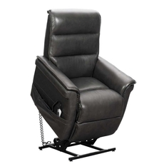 Barcalounger Luka Lift Chair with Power Recline and Power Headrest - Venzia Grey