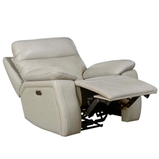 Barcalounger Micah Recliner with Power Recline and Power Headrest - Venzia Cream