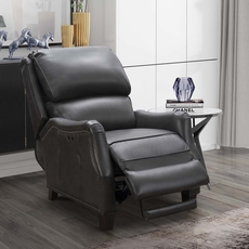 Barcalounger Morrison Big & Tall Leather Power Recliner - Ashford Graphite
