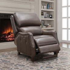 Barcalounger Morrison Big & Tall Leather Power Recliner - Ashford Walnut