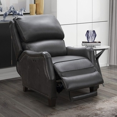 Barcalounger Morrison Big & Tall Leather Recliner - Ashford Graphite