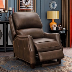 Barcalounger Morrison Big & Tall Leather Recliner - Ashford Walnut