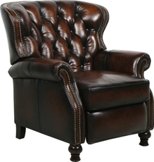 Barcalounger Presidential Leather Recliner - Stetson Coffee