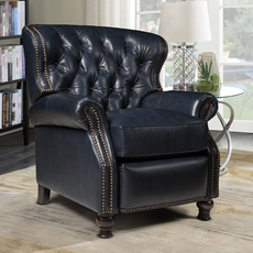 Barcalounger Presidential Leather Recliner - Shoreham Blue