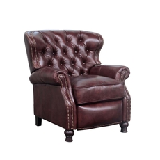 Barcalounger Presidential Leather Recliner - Wenlock Fudge