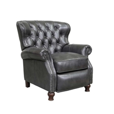 Barcalounger Presidential Leather Recliner - Wrenn Gray