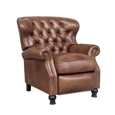 Barcalounger Presidential Leather Recliner - Wenlock Tawny