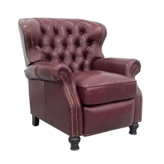 Barcalounger Presidential Leather Recliner - Shoreham Wine