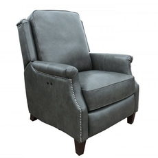 Barcalounger Riley Leather Power Recliner - Ashford Graphite