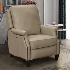 Barcalounger Riley Leather Power Recliner - Shoreham Cream