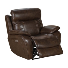 Barcalounger Sandover Recliner with Power Recline, Power Headrest & Power Lumbar - TriTone Chocolate