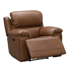 Barcalounger Sedrick Recliner with Power Recline and Power Headrest - Spence Caramel
