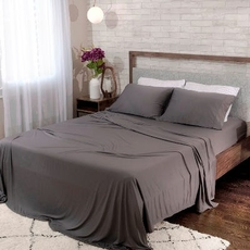 Bedgear Dri-Tec Grey Split Cal King Sheet Set