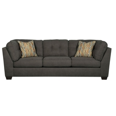 Benchcraft Delta City Stationary Sofa in Steel
