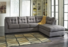 Benchcraft Maier 2 Piece Sleeper Sectional in Charcoal