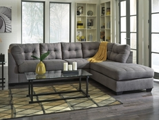 Benchcraft Maier Stationary Chaise Sectional in Charcoal