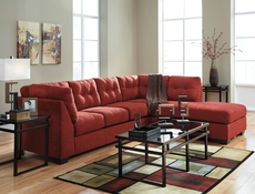 Benchcraft Maier Stationary Chaise Sectional in Sienna