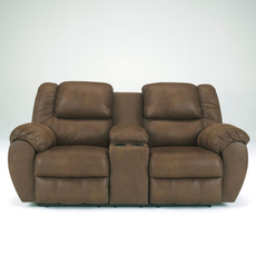 Benchcraft Quarterback Double Reclining Loveseat with Console