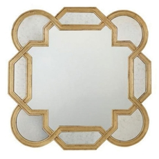 Bernhardt Salon Gold Leaf Mirror