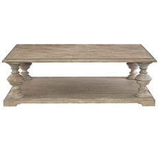 Clearance Bernhardt Campania Cocktail Table in Weathered Sand