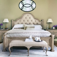 Bernhardt Campania Upholstered King Panel Bed