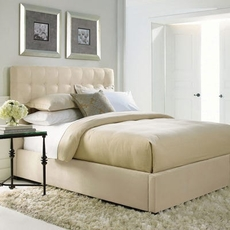 Bernhardt Interiors Avery Queen Button-Tufted Bed