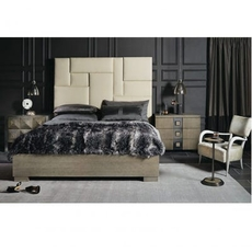 Bernhardt Mosaic Upholstered Wood Panel King Bedroom Set