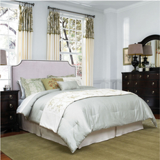 Broyhill Andrina Clipped Corner Custom Upholstered Bed