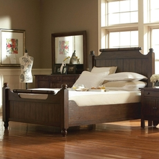 Broyhill Attic Heirlooms Feather Bed in Rustic Oak