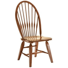 Broyhill Attic Heirlooms Windsor Side Chair in Rustic Oak Set of 2
