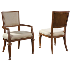 Broyhill Cascade Upholstered Seat and Back Arm Chair Set of 2