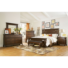 Broyhill Estes Park 4 Piece Wood Panel Bedroom Set with Free Additional Nightstand