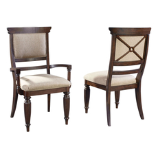 Broyhill Jessa Upholstered Seat and Back Arm Chair Set of 2