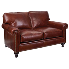 Broyhill Tanners Choice Harrison Leather Loveseat