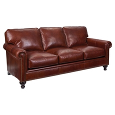 Broyhill Tanners Choice Harrison Leather Sofa