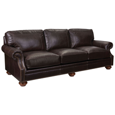 Broyhill Tanners Choice Heuer Leather Sofa
