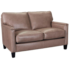 Broyhill Tanners Choice Lawson Leather Loveseat